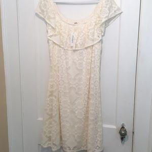 White Dressbarn Lace Sundress